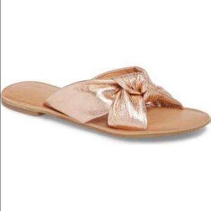 Jeffrey Campbell Zocalo Rose Gold Knot Sandal 9